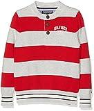 Acquista Tommy Hilfiger Rugby Stripe Henley L/s, Maglia a Maniche Lunghe Bambino, Grigio (Light Grey Heather), 152 (Taglia Produttore: 12)