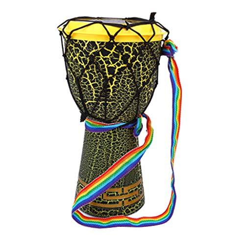 Fenteer 30cm Djembe Bongo Afrikanische Handtrommel Schlaginstrument Musikspielzeug für Kinder - Grün
