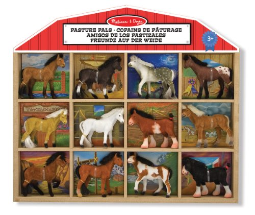 melissa-doug-pasture-pals-8-collectible-horses-with-wooden-barn-shaped-crate