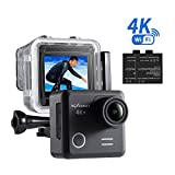 NEXGADGET 4K Action Kamera WIFI 16MP Wasserdichte Actioncam 170 Grad Weitwinkelobjektiv Camera mit...