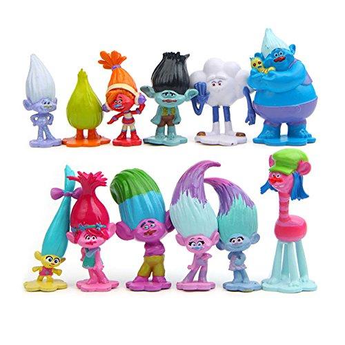 Zantec Figura de acción modelo de simulación,Juguetes regalo de los niños,de muñeca sólida,decoración de la torta,12 unids/paquete