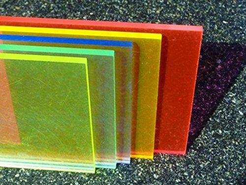 Platte Acrylglas GS, 500 x 500 x 3 mm, Fluoreszierend rot Zuschnitt alt-intech® - 2