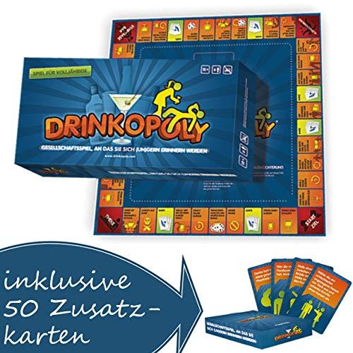 Drinkopoly Trinkspiel Saufspiel Partyspiel Brettspiel mit 50 extra Karten deutsch NEU