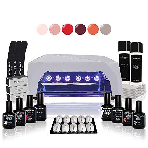 Lampara Led Secador Uñas UV Kit Gel Uñas Set Manicura