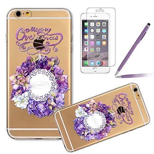 Durchsichtig Huelle für iPhone 5S, Felfy luxus Ultra Slim Bling Shiny Sparkle Diamant Dünnen Apple iPhone 5S 5 Cool Love Heart Muster Weiche Flexible Gel TPU Handy Tasche Back Case Cover Protective Zu #12