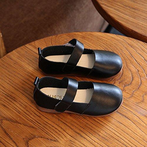 hibote Kind Mädchen Prinzessin Schuhe Niedliche hübsche Bowknot weiche Schuhe 710-schwarz