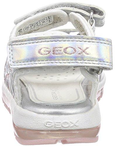 Geox B Sandal Todo Girl A, Sandales premiers pas bébé fille Argent - Silber (SILVER/PINKC0566)
