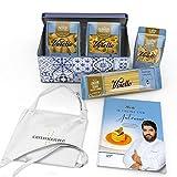 Gift Box Voiello - Edizione limitata Chef Antonino Cannavacciuolo – Prezioso Cofanetto in latta con Pasta Voiello, Grembiule e Ricettario dello Chef - Idea Regalo per Natale