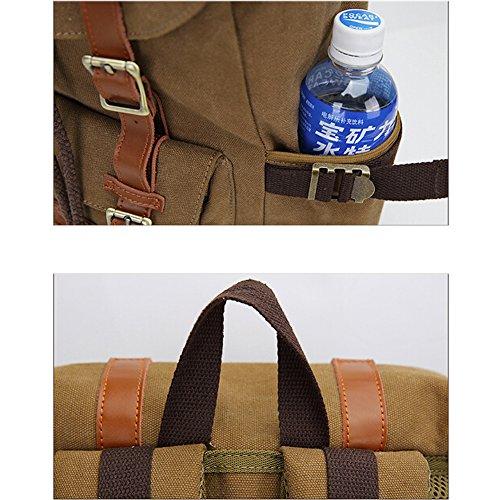 Multipurpose Rucksäcke, Fresion Schultasche mit 2 Seitentaschen Laptop Tasche Reise Rucksack Damen Herren Trekkingrucksäcke mit Großer Kapazität für 17 Zoll Laptop (Nylon Blau) Segeltuch Schwarz