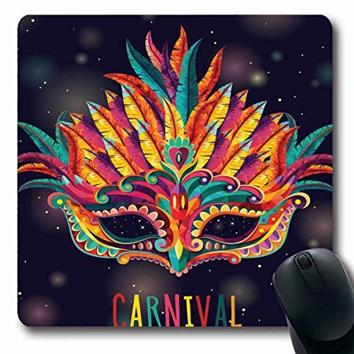 Luancrop Mousepads Glückwunsch-Rio-glücklicher Karnevals-Festliche Masken-Zusammenfassungs-Italien-Venedig-Kostüm-Brasilien-Musik-rutschfeste Spiel-Mausunterlage Gummi-längliche Matte