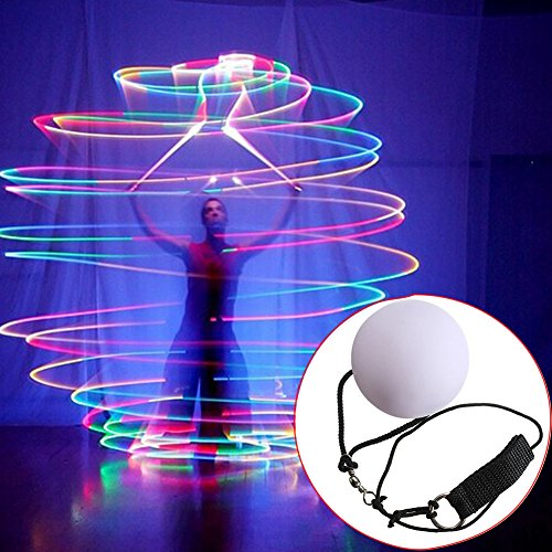YongYI 1 Pair LED Glow POI Juggling Thrown Balls for Professional Belly Dance Level Hand Props