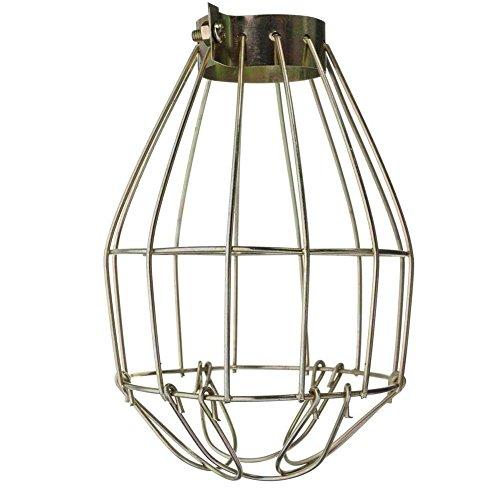 Golden Lank Metal Bulb Cage Guard Weinlese Eisendraht Birnen Käfig der Hängend Industriellen Lampenschirm (Metal-guard)