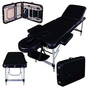 Massage Imperial® - tragbare Massageliege Richmond - Aluminium - 12 kg - 5 cm Schaumstoff - schwarz