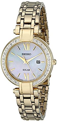 Seiko Womens' Diamond Solar Powered SUT182P9