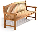 Jati Gloucester Teak Curved Back 3 Seater Garden Bench - 5ft Garden Bench Brand, Quality & Value