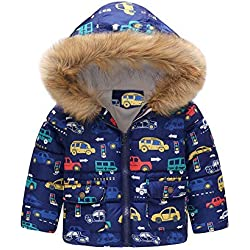 Newborn Baby Clothes, ❤️ Zolimx Niños Bebé Niña Niño de Invierno de Dibujos Animados Abrigo Capa Chaqueta Gruesa Ropa de Abrigo Caliente (Azul, 2Años/ 100CM)