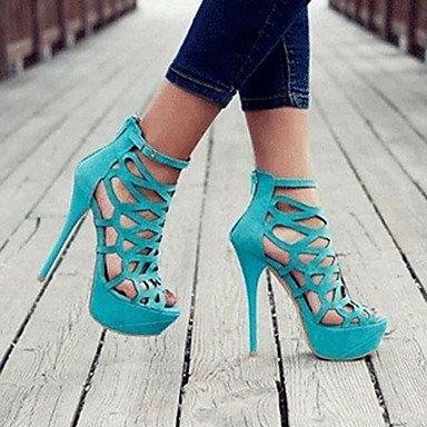 CH&TOU Da donna-Sandali-Casual Serata e festa-Plateau-A stiletto-Cashmere-Nero Rosso Blu chiaro light blue