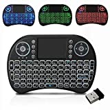 #9: spincart Backlit Mini Wireless Multimedia Keyboard with Touchpad Mouse,3 Color RGB Backlight (Fn+F2 to Change) for Android TV Box HTPC PS3 XBOX360 Smart Phone Tablet Mac Linux Windows OS