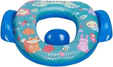 Mee Mee Cushioned Non-Slip Potty Seat with Easy Grip Handles and Pee Shield, Dark Blue