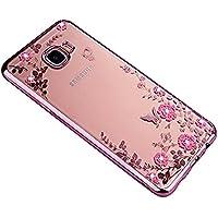 SevenPanda für Galaxy S7 Hülle, für Samsung S7 Case, Silikon Hülle [Kristallklar Durchsichtig] Malerei Schmetterling Blumen Rebe Muster Transparent TPU Silikon Bumper für Samsung Galaxy S7 - Roségold