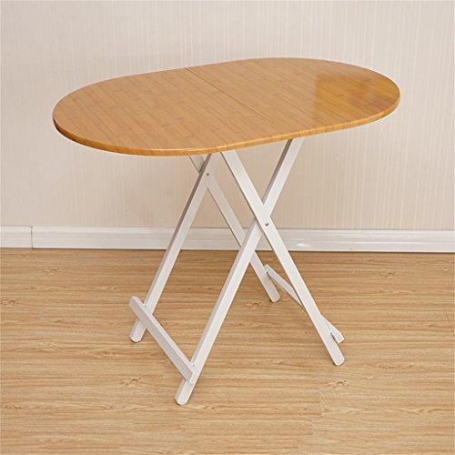Ymxljf tavolo da pranzo pieghevole, scrivania computer, tavolo ovale semplice portatile, tavolo da stalla all'aperto (colore : b)