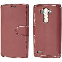 Funda LG G4, Mobest Funda Cuero LG G4, Funda Cartera LG G4, Funda Billetera, Carcasa en libro, Cierre Magnético, Ranuras para Tarjetas, Soporte Plegable Para LG G4 - Rojo