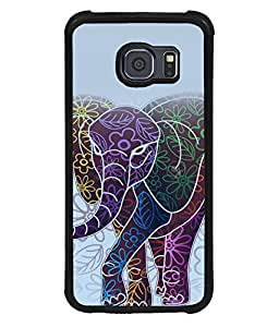 printtech Ethnic Elephant Pattern Floral Back Case Cover for Samsung Galaxy S6::Samsung Galaxy S6 G920