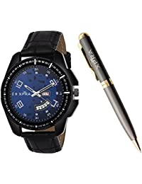 Xpra Analog Day and Date Watch & Metal Pen Combo for Men & Boys (WCH-PN-1)