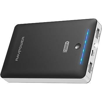 RAVPower Caricabatterie Portatile 16750mAh da Uscita 4.5A (2.4A+2.1A), Entrata 2A Batteria Esterna con iSmart, Carica Veloce, Ultra Compatto per Cellulari, Tablet e Smartphone di Tutte le Marche -Nero