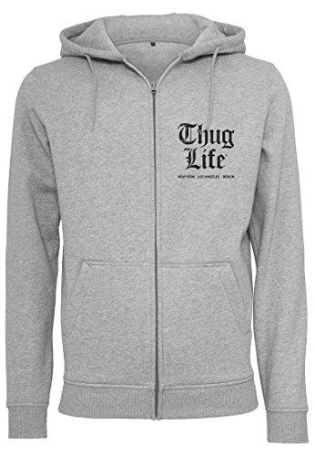 Thug Life Herren Chest Cities Zip Hoodie grey