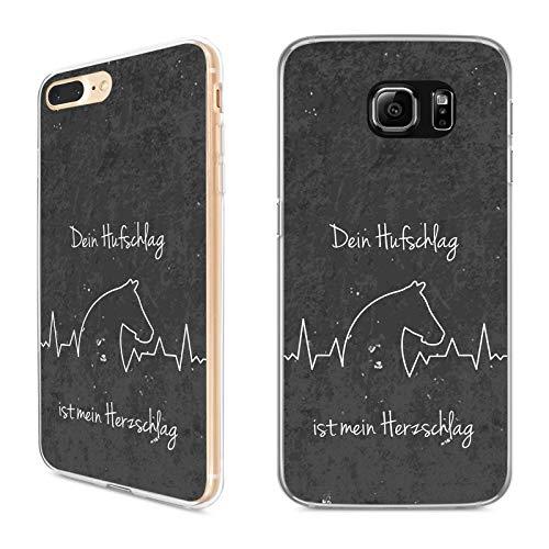 Premium Handyhülle Pferde Spruch aus Silikon | Pferdemotiv Pferdekopf Pferdefreunde Pferd Tier Frau, Hüllendesign:Design 1 | Silikon Klar, Kompatibel mit Handy:Apple iPhone Xr