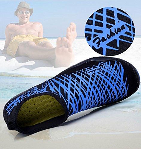 SITAILE Atmungsaktiv Wassersport Strandschuhe Aquaschuhe Schwimmschuhe Badeschuhe Wasserschuhe Surfschuhe für Kinder Jungen Blau