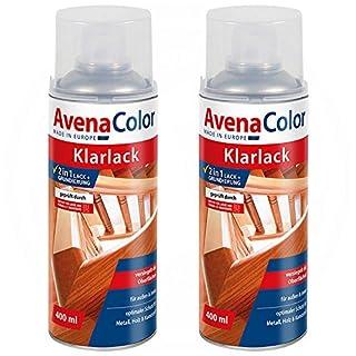 2 x Avena Color Klarlack hochglänzend farblos 2in1 Grundierung 400 ml