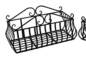wandkorb metall braun breite 54 cm blumenbalkon wandregal regal garten. Black Bedroom Furniture Sets. Home Design Ideas