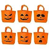 Halloween kürbis-tütchen, süßes oder saures süßigkeiten tragen taschen, das handliche taschen mit kindern umgehen, kostüm, süßigkeiten, dekorationen, party - 6 stück