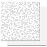 Best Creation 12-Inch by 12-Inch Basic Glitter Paper Simply Elegance, Butterfly Kisses