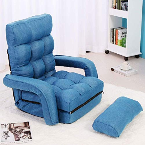 Kissen Retail-paket (Zryh Blauer kreativer faltender fauler Couchstuhlmodesofasofa-Klubsessel)