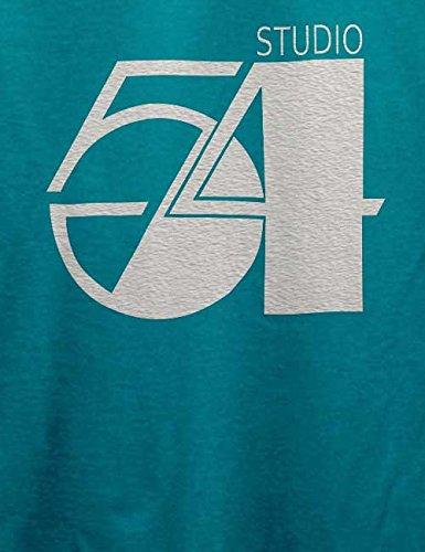 Studio54 Logo Weiss T-Shirt Türkis
