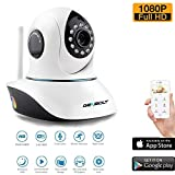 Wireless WiFi Security Camera 1080P HD Pan Tilt IP Network Surveillance Webcam,Day Night Vision Dog Camera,Baby Monitor,Two-Way Audio Nanny Cam, SD Card Slot(128GB)