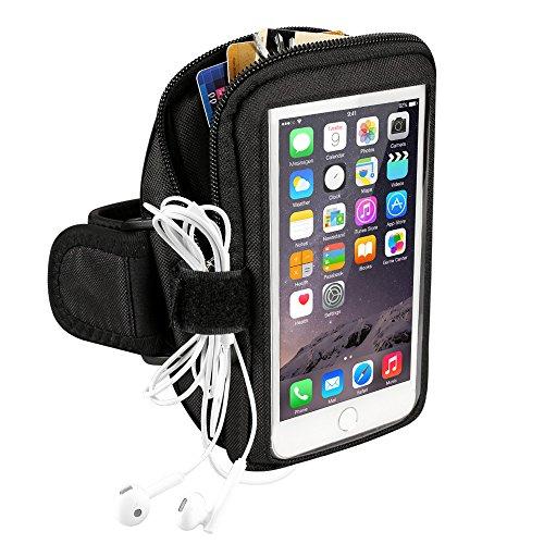 Fascia da Braccio,Topist Running Allenamento Esercizi Sweatproof Sport Fascia da Braccio per Iphone 6 plus/6S, Samsung Galaxy, S7/S6/S4/S5/ Note2/3/4 , Fascia da Braccio,Colore Nero
