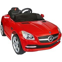 Coche Eléctrico Bateria 6V Automóviles Infantiles para Niños Mercedes Benz 81200 Color Rojo Mando Control Remoto y conexion MP3 Llaves encendido Luces de Faros y Claxon