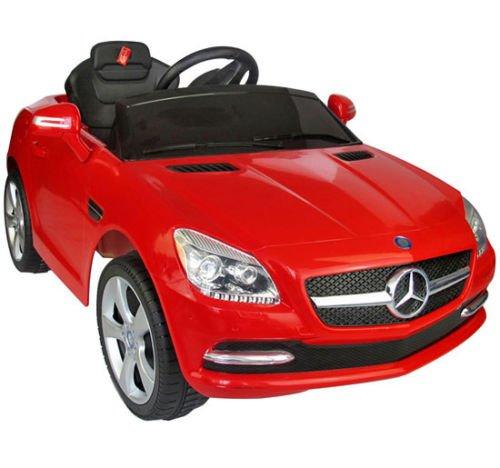 Coche Eléctrico Bateria 6V Automóviles Infantiles para Niños Mercedes Benz 81200 Color Rojo Mando Control Remoto y conexion MP3 Llaves...