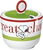 United Labels 0106888 - Best of Snoopy-Home Run Zuckerdose Porzellan in prämierter Geschenkverpackung 200 ml