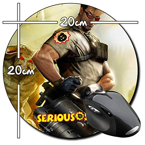 Serious Sam 3 Before First Encounter Mauspad Round Mousepad PC