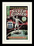 """Silver Surfer """"L' Origine Montato e Stampa con Cornice,, 30x 40cm"""