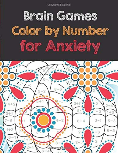 Brain Games Color by Number for Anxiety: Adult Coloring Book by Number for Anxiety Relief, Scripture Coloring Book for Adults & Teens Beginners, Books for Adults Relaxation Large Print