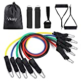 Vkaiy Bandes de Resistance Elastiques Musculation Set, Latex Fitness Exercice Bands...