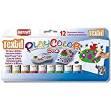 Playcolor 10461 10g Textile One Solid Poster Paint Stick (Pack of 12)