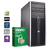 Gaming PC Computer | HP Elite 8300 CMT (Tower) | Intel Core i5-3470 @ 3,2 GHz | 8GB DDR3 RAM | 2000GB HDD | 240GB SSD | Nvidia GTX 1050 | DVD-Laufwerk | Windows 10 Pro (Zertifiziert und Generalüberholt)