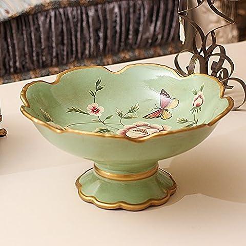 American pastoral Vintage Keramik getrocknete Früchte Platte kreative kontinentalen Wohnzimmer Platte Coffee Table Dekoration Ornamente-A